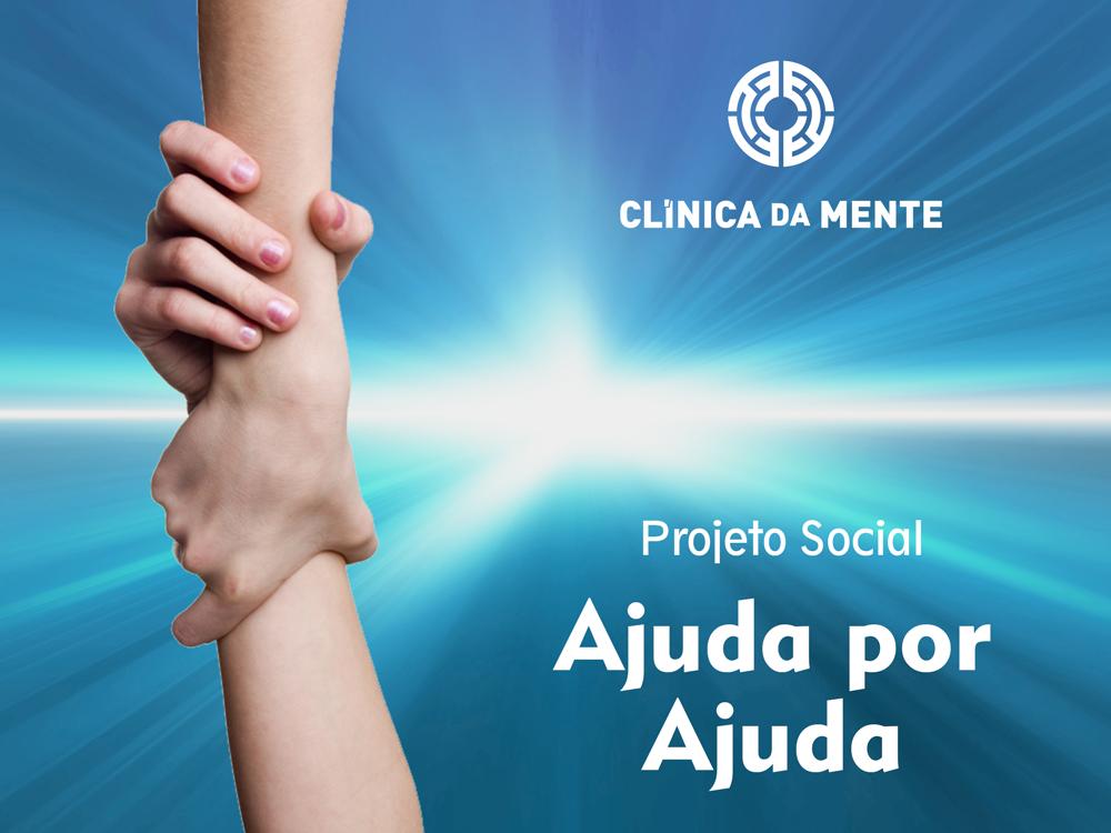 Duas mãos agarram-se, simbolizando o projeto Ajuda por Ajuda