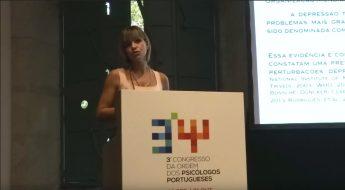 Psicoterapeuta Joana Oliveira apresenta o estudo no Congresso