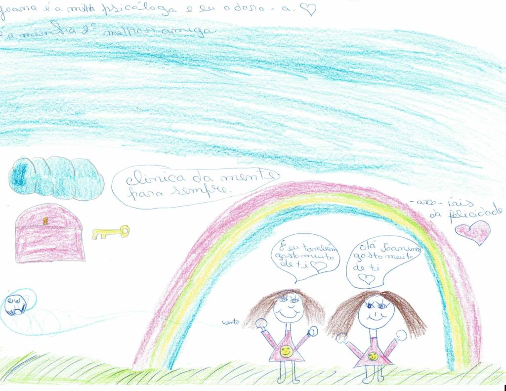 arco-iris da felicidade - mafalda