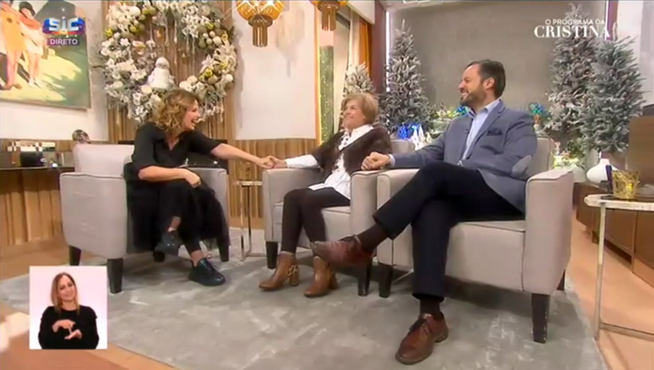 Pedro Brás e Helena no Programa da Cristina