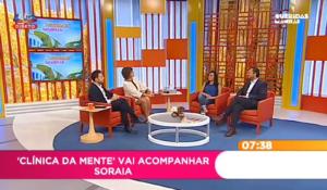 Soraia Melo e Pedro Brás no programa Queridas Manhãs, da SIC, a falar sobre Transtorno Obsessivo Compulsivo.